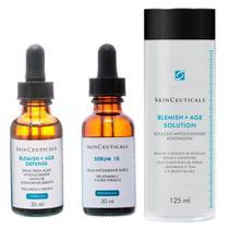 Skinceauticals Kit - Tônico Facial 125ml + Rejuvenescedor Facial 30ml + Tratamento Antiacne 30ml - Skinceuticals