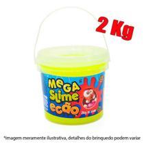 Slime balde com 2kg - amarelo - Dtc