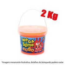 Slime balde com 2kg - laranja - Dtc