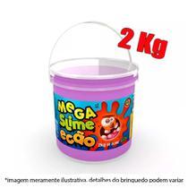 Slime balde com 2kg - roxo - Dtc