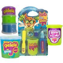 Slime brilha no escuro, kit laboratório Gelelé + 2 produtos -