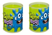 Slime Eca Verde Gelatinosa Geleca 2 Unidades - Dtc 4626 - Brinquedos