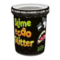 Slime Ecão Glitter - 100g - Preto - DTC -