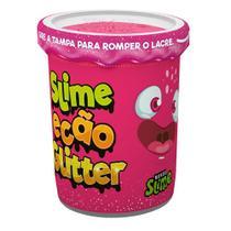Slime Ecão Glitter - 100g - Rosa Neon - DTC -