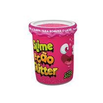 Slime Ecão Glitter - 110g - Rosa - DTC -