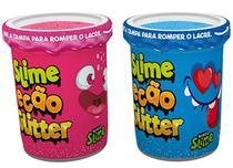 Slime Ecão Glitter Azul + Slime Ecão Glitter Vermelho - Dtc