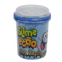 Slime Ecão Metalizado - 110g - Azul - DTC -