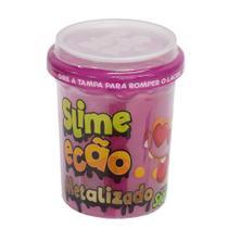 Slime Ecão Metalizado - 110g - Rosa - DTC -
