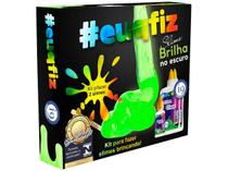 Slime euquefiz Slime Brilha no Escuro - Colorida com Acessórios i9 Brinquedos