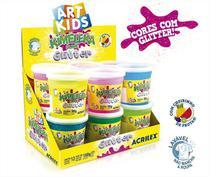 Slime Glitter Caixa com 12 unidades 180g Kimeleka Acrilex -