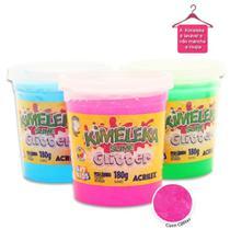 Slime Kimeleca Glitter Unidade 180g Acrilex Com Cheiro De Fruta -