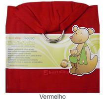Sling de Argola Best Sling Liso Com Bolso Vermelho -