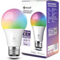 Smart lâmpada inteligente led colorida wifi 10w + rgb bivolt - Ekaza