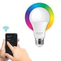 Smart Lâmpada LED EPGG17 Colorida Inteligente 10W com WiFi Elsys Bivolt -