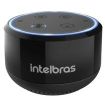 Smart Speaker Intelbras Izy Mini Speak! Alexa Integrada,Bluetooth, Wi-Fi, Comandos de voz, Bateria recarregável, 2W RMS, Preto -