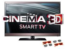 "Smart TV 3D LED 55"" LG Full HD 55LW5700 - Conversor Digital 4 HDMI 3 USB IPS DLNA"