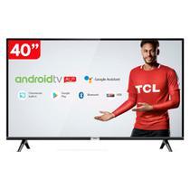 Smart TV 40 Polegadas LED HD TCL 40S6500 com Android e comando de voz Bivolt -