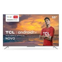 Smart TV 4K 55' TCL LED Ultra HD 55P715 Android Bluetooth com Comando de Voz HDR 3 HDMI 2 USB -