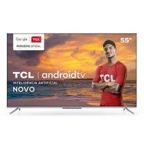 "Smart TV 4K 55"" TCL LED Ultra HD 55P715 Bluetooth Controle Remoto com Comando de Voz HDR 3 HDMI -"