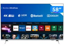 "Smart TV 4K 58"" UHD Philips 58PUG6654/78 Wi-Fi  - Bluetooth HDR 3 HDMI 2 USB Bordas Ultrafinas"