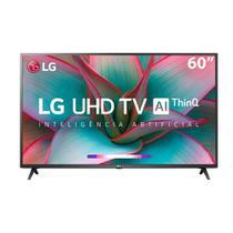 "Smart TV 4K 60"" LG LED Ultra HD 60UN7310PSA ThinQ AI webOS 5.0 HDR Ativo 3 HDMI 2 USB -"