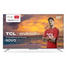 "Smart TV 4K 65"" TCL LED Ultra HD 65P715 Bluetooth Controle Remoto com Comando de Voz HDR 3 HDMI -"