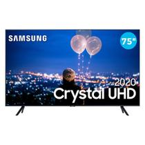"Smart TV 4K 75"" Samsung LED Ultra HD 75TU8000 Crystal com Controle Remoto Único HDR 3 HDMI 2 USB -"