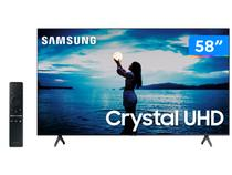 "Smart TV 4K Crystal UHD 58"" Samsung UN58TU7020GXZD - Wi-Fi Bluetooth HDR10+ 2 HDMI 1 USB"