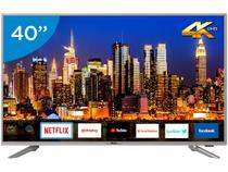 "Smart TV 4K LED 40"" Philco PTV40G50SNS - Wi-Fi Conversor Digital 3 HDMI 2USB"