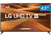 "Smart TV 4K LED 43"" LG 43UM7300PSA Wi-Fi HDR  - Inteligência Artificial Conversor Digital"