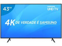 "Smart TV 4K LED 43"" Samsung UN43NU7100 Wi-Fi - Conversor Digital 3 HDMI 2 USB"
