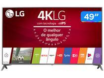 "Smart TV 4K LED 49"" LG 49UJ6565 Wi-Fi HDR - Conversor Digital 4 HDMI 2 USB"