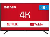 "Smart TV 4K LED 49"" Semp SK6000 Wi-Fi - Conversor Digital 3 HDMI USB"