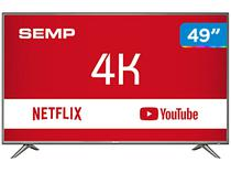 "Smart TV 4K LED 49"" Semp SK6200 Wi-Fi HDR - Conversor Digital 3 HDMI 2 USB"