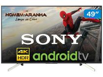 "Smart TV 4K LED 49"" Sony KD-49X755F Android - Wi-Fi HDR Conversor Digital 4 HDMI 3 USB"