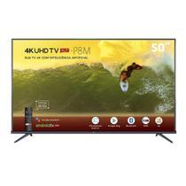 Smart TV 4K LED 50 1D TCL 50P8M Android TV Wi-Fi Bluetooth HDR Inteligência Artificial 3 HDMI 2 USB -