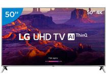 "Smart TV 4K LED 50"" LG 50UK6520 Wi-Fi HDR - Inteligência Artificial Conversor Digital 4 HDMI"
