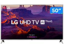 "Smart TV 4K LED 50"" LG 50UK6520 Wi-Fi HDR - Inteligência Artificial Conversor Digital 4 HDMI"