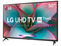 Smart TV 4K LED 50'' LG 50UN7310PSC Wi-Fi Bluetooth - Inteligência Artificial 3 HDMI 2 USB -