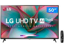 "Smart TV 4K LED 50"" LG 50UN7310PSC Wi-Fi Bluetooth - Inteligência Artificial 3 HDMI 2 USB"