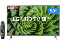 "Smart TV 4K LED 50"" LG 50UN8000PSD Wi-Fi Bluetooth - HDR Inteligência Artificial 4 HDMI 2 USB"