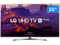 "Smart TV 4K LED 55"" LG 55UK6540 Wi-Fi HDR - Inteligência Artificial Conversor Digital 4 HDMI"