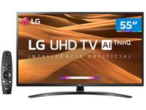 "Smart TV 4K LED 55"" LG 55UM7470PSA Wi-Fi HDR - Inteligência Artificial Controle Smart Magic"