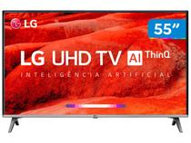 "Smart TV 4K LED 55"" LG 55UM7520PSB Wi-Fi HDR - Inteligência Artificial 4 HDMI 2 USB"