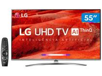 "Smart TV 4K LED 55"" LG 55UM7650PSB Wi-Fi HDR - Inteligência Artificial Controle Smart Magic"