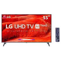 Smart TV 4K LED 55 LG UM7520PSB, 4 HDMI, 2 USB, webOS, Wi-Fi Integrado -