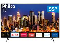 "Smart TV 4K LED 55"" Philco PTV55F62SN Wi-Fi HDR - 3 HDMI 2 USB"