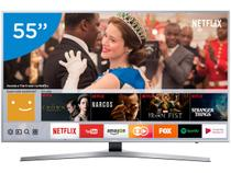 "Smart TV 4K LED 55"" Samsung UN55MU6400GXZD - Wi-Fi Conversor Digital 3 HDMI 2 USB"