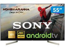 "Smart TV 4K LED 55"" Sony XBR-55X905F Android - Wi-Fi HDR Conversor Digital 4 HDMI 3 USB"