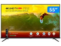 "Smart TV 4K LED 55"" TCL 55P8M Android Wi-Fi - Bluetooth HDR Inteligência Artificial 3 HDMI 2 USB"
